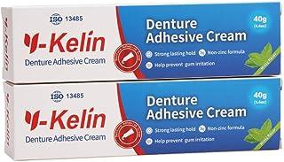 Y-Kelin Crema adhesiva para dentaduras postizas 40gr /1.4oz (2 PACK)