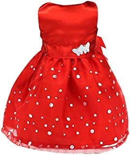 Romote Red Sleeveless Dress Gown Dress Clothing for 18 Inch Girl Dolls Dress