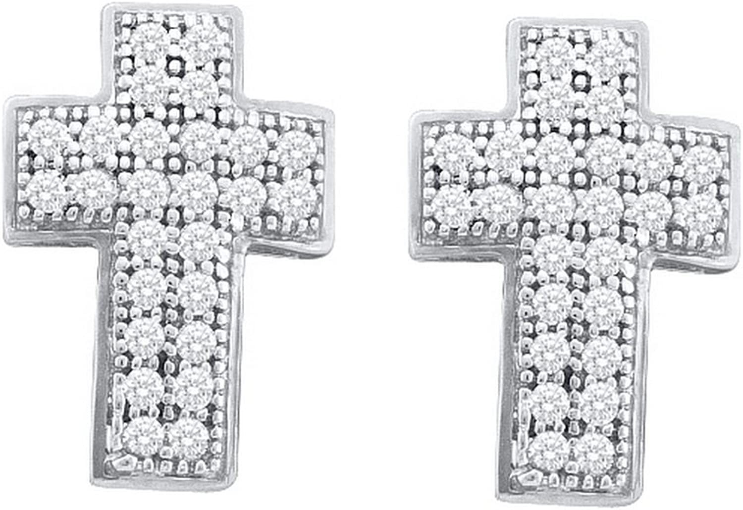 1 6 Total Carat Weight DIAMOND CROSS EARRINGS