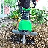 DJLOOKK Escarificador/aireador eléctrico portátil, escarificadores de césped de 1500 W, cultivador y cultivador eléctrico con Cable, rastrillo eléctrico para césped de jardín, motoazadas