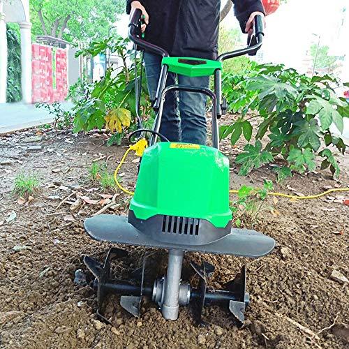 AAGYJ Escarificador/aireador eléctrico portátil, escarificadores de césped de 1500 W, cultivador y cultivador eléctrico con Cable, rastrillo eléctrico para césped de jardín, motoazadas