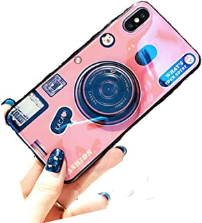 iPhone 8 Plus Shiny Shockproof Ring Stand Case,Aulzaju iPhone 7 Plus Super Bling Beauty Soft TPU Air Cushion Holographic Sparkle Case Cover for Girls Women(iphone 8 plus/7 plus 5.5 inch, Pink)
