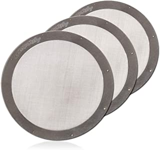 3 Pack Metal Filters For AeroPress Coffee Makers Washable and Reusable Mesh Made of Stainless Steel