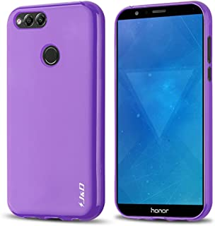 J&D Compatible para Huawei Honor 7X Funda, [Cojín Fino] [Parachoques Ligero] [Protección contra Caídas] Resistente Funda TPU Protectora para Huawei Honor 7X - Púrpura