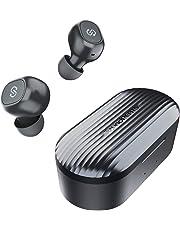 SoundPEATS(サウンドピーツ) TrueFree+ ワイヤレスイヤホン Bluetooth 5.0 完全ワイヤレス イヤホン SBC/AAC対応 35時間再生 Bluetooth イヤホン 自動ペアリング 左右独立型 マイク内蔵 両耳通話 防水 小型 軽量 TWS ブルートゥース ヘッドホン トゥルーワイヤレス ヘッドセット [メーカー1年保証] ブラック