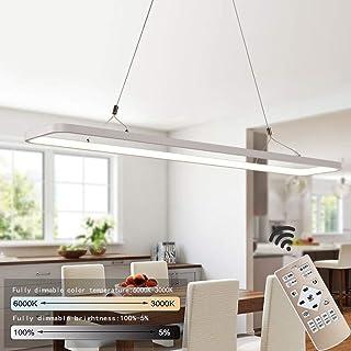 LED Suspension Lampe Fabriqué en Aluminium et Fel de Silice 45W de Bureau Lampe Suspendue Suspension Réglable de Bureau La...