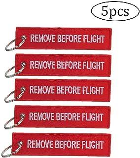 5 Pz Remove Before Flight portachiavi Etichetta bagaglio multiuso Double Sided ricamo Aviation portachiavi Pilot viaggiato...