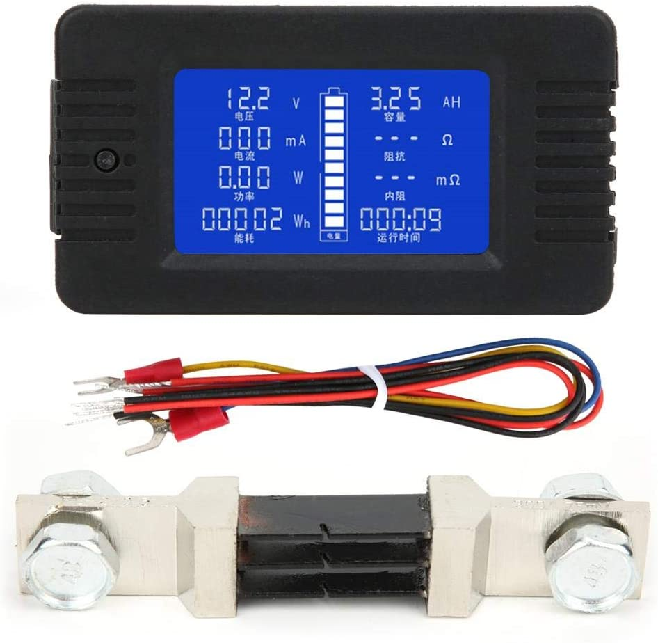 0-200 V LCD-Digitalanzeige Multifunktionales Batteriemessger/ät PZEM-015 Batterietestdetektor 300A mit 300 A Shunt 1/% Messgenauigkeit