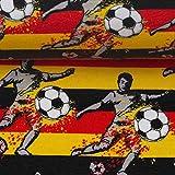 Doppelmoppel Jersey Stoff Meterware Kinder Fußball