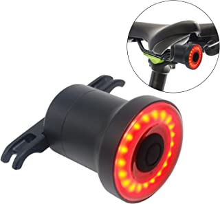 comprar comparacion Luz de Cola para Bicicleta Inteligente - Ultra Brillante - Sensor LED Recargable Resistente al Agua - Lámpara de Advertenc...