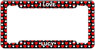 Graphics and More Hearts License Plate Frame I Love Name La-Mo - Lucy