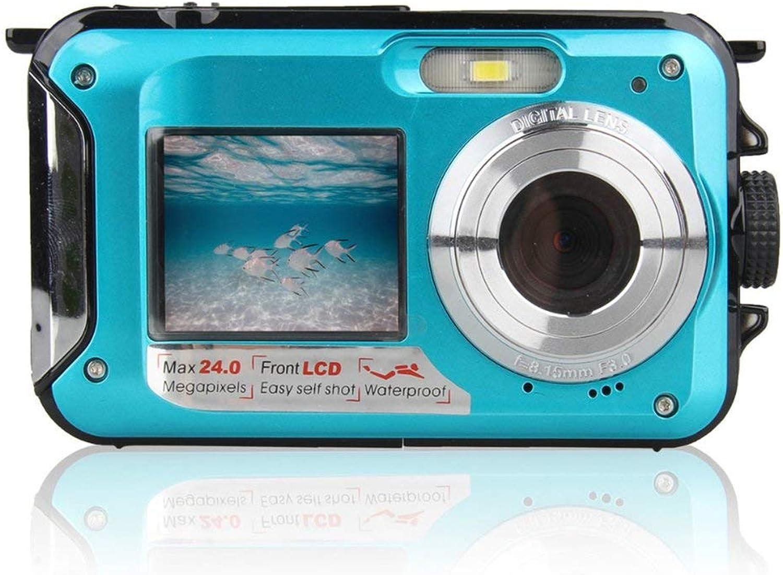 salida para la venta Sunnyday Cámara subacuática de Doble Pantalla Cámara de Video Digital Digital Digital para Buceo, Impermeable y Deportiva  venta directa de fábrica