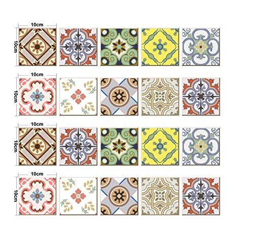 JY ART Y Wand-Aufkleber Küche Deko Badezimmer-Gestaltung - Küchen-Fliesen überkleben - Dekorative Bad-Gestaltung - Fliesen-AufkleberDT002, 10cm*10cm