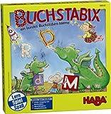 HABA 300143 - Buchstabix, lustiges Lernspiel zum Kennenlernen großer und Kleiner Buchstaben, Memospiel für 2-6 Kinder von 4-7 Jahren -