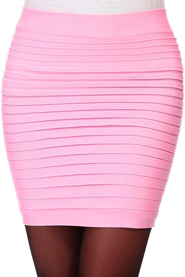 Encounter Stretch Simple Cotton Blend Mini Skirt Minijoup Basic Plain Skirt