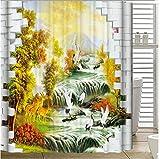 GYMNLJY Wasserdichte Verdickung Polyester Dusche Vorhang 3D Tier Badezimmer Dekoration Blackout Bad Duschvorhang , 3 , 180*200cm