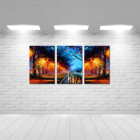 CRAFTSFEST Set of 3 Couple Modern Art Sparkle Coated Self Adhesive Wall Painting for Living Room, Bedroom, Office, Hotels, Drawing Room (Size: H x W: 18 inch x 36 inch)
