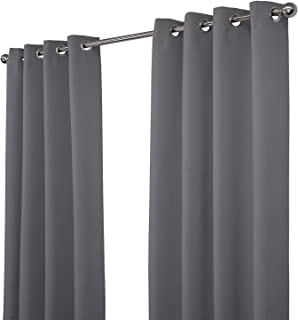 NIM Textile Thermal Insulated Blackout Curtains Room Darkening Window Panel Grommet Top Drapes - Sofiter Collection - 140