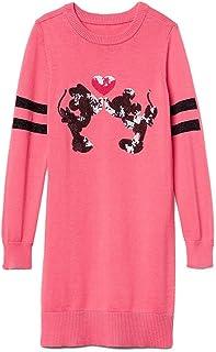 c22dbd71d GAP Kids Girls Disney Mickey & Minnie Mouse Pink Sequin Sweater Dress  Medium 8