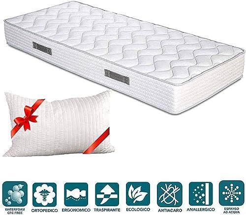 Evergreenweb - Colchones individual 90x200 Espuma de 20 cm de altura para Cama simple - Transpirable y máximo Confort...