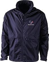 NFL Houston Texans Men's Sportsman Waterproof Windbreaker Jacket, Navy, large