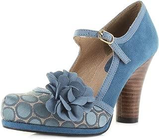 RUBY SHOO Hannah Block Heel Ankle Strap Spot