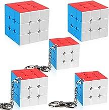 D-FantiX Mini 3x3 Speed Cube Keychains 3x3x3 Cube Key Ring Moyu Cubing Classroom Set Gift Box