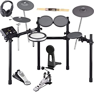 Yamaha DTX522K Electronic Drum Set Kit With Bass Drum Pedal, On-Ear Stereo Headphones, and Drum Sticks
