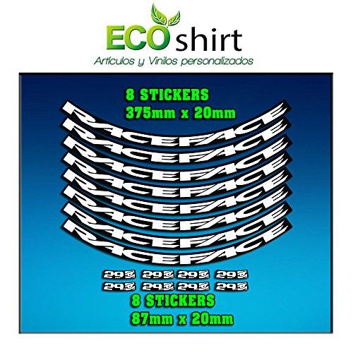 Ecoshirt 3M-G467U K0CZ Aufkleber Felge Rim Raceface 29 Zoll Am54 Bike MTB Downhill