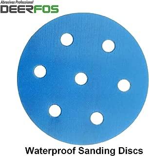 Pel/ícula Deerfos Hook /& Loop paquete de 50 // P1200 604 Discos de lija h/úmedos o secos de 75 mm