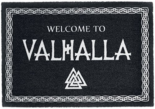 for-collectors-only Welcome to Valhalla Fussmatte Wikinger Walhalla Fußmatte Schmutzmatte Türabstreifer Türmatte Odin Fußabstreifer Teppich Doormat