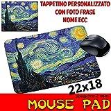 csm Informatica Tappetino Mouse Pad Personalizzabile sp 2mm Collezione Van Gogh Notte Stellata