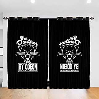 FDASLJ Customized Blackout Window Curtains Anchorman Inspired Sex Panther Cologne, Trucker Cap Grommet Thermal Insulated Room Darkening Drape for Bedroom Living Room 52 X 72 Inch, 2 Panels