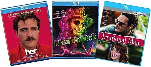 Joaquin Phoenix 3-Film Blu-ray Movie Collection: Her / Inherent Vice / Irrational Man [Bluray]