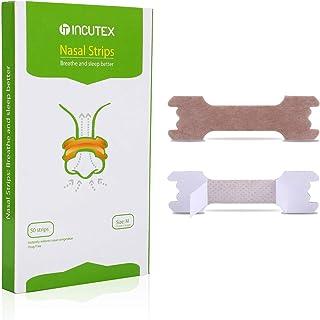 Incutex 50 unités de patchs nasaux contre le ronflement bandelettes nasales..