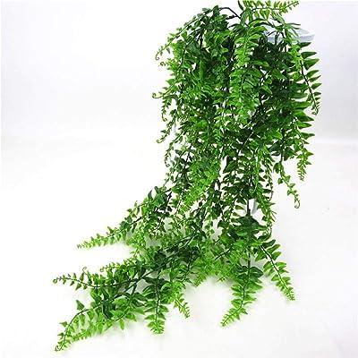 FFN - Hojas artificiales de plástico verde para colgar en la pared, para el hogar, jardín, sala de estar, bar, decorado con hojas falsas, plantas verdes: Amazon.es: Hogar