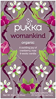 Pukka Womankind, Organic Herbal Tea with Cranberry, Rose and Exotic Vanilla, 20 Tea Bags