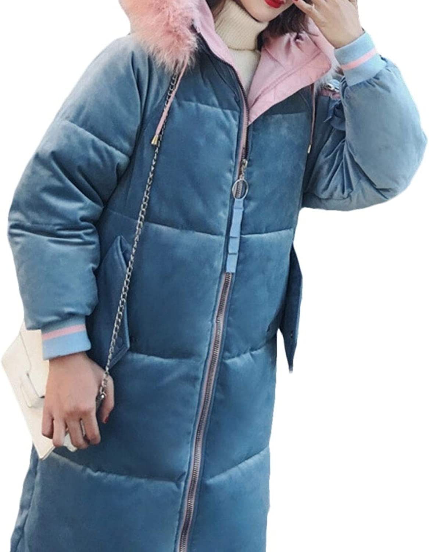 Jxfd Men's Women's Hood Thickened Long Down Jacket Puffer Down Parka Coat