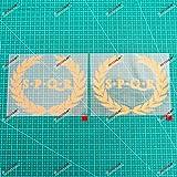 2X Gold 6'' SPQR Ancient Rome Banner Decal Sticker Car Vinyl Roman no bkgrd