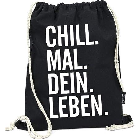 Rucksack Clubsack grillen chillen spruch schwarz Sportbeutel Turnbeutel