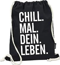 Hashtagstuff Turnbeutel mit Sprüchen Designs auswählbar Kordel Schwarz Spruch Rucksack Jutebeutel Sportbeutel Gymbag Beutel Hipster Dein Leben