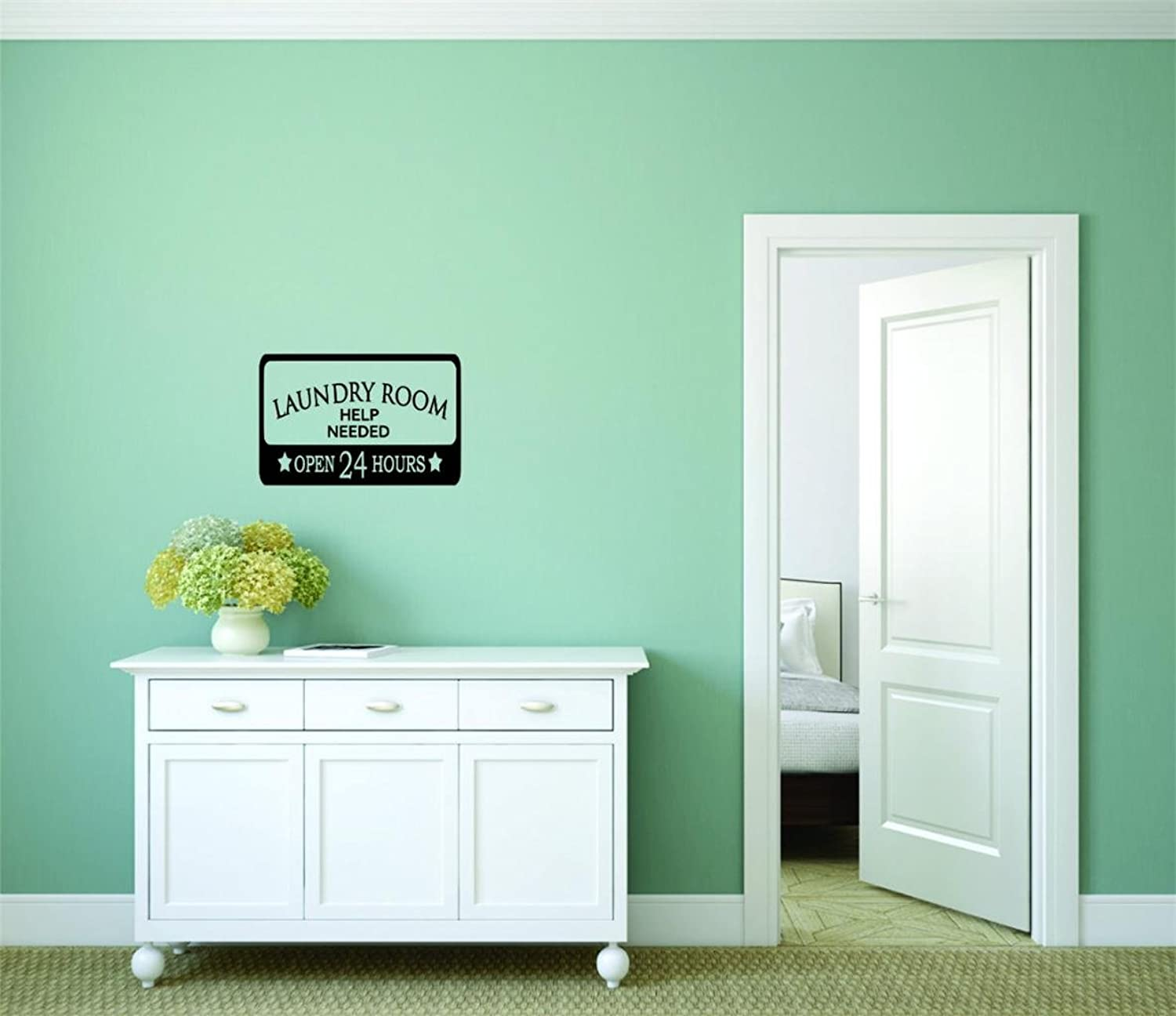 Decal Wall Sticker  Best Selling Cling Transfer  ON SALE NOW   Laundry Apply Within Open Sign Housekeeping Home Decor Picture Art Size  30 Inches x 50 Inches