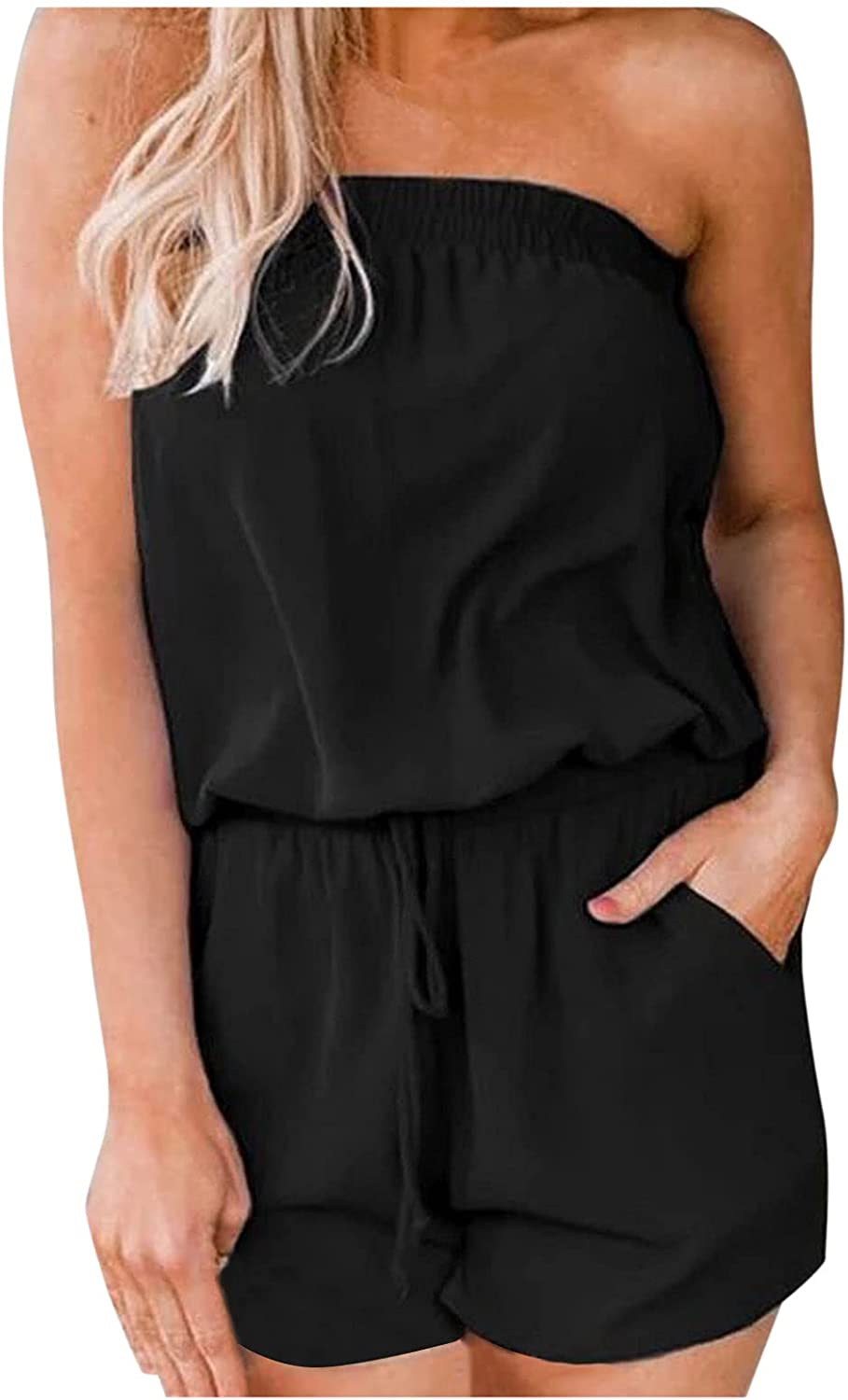 famous Gemira Rompers for Women Casual Summer Over item handling ☆ Off Casua Shorts Shoulder