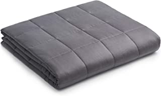 YnM Weighted Blanket — Heavy 100% Oeko-Tex Certified Cotton Material with Premium Glass Beads (Dark Grey, 60''x80'' 15lb...