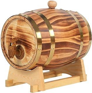 Tonneau à vin en bois Fûts de Chêne, Fûts de Chêne de Bois Vintage de 1,5 Litre for La Vinification ou Le Stockage de La T...