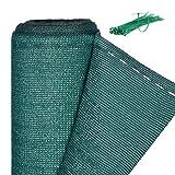 Relaxdays Zaunblende, Sichtschutz für Zaun & Balkongeländer, HDPE Gewebe, UV-stabilisiert, wetterfest, 1,2 x 15 m, grün