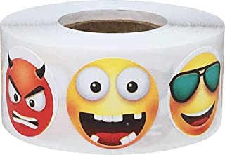 3D Emoji Stickers 6 Different Faces 1 Inch 500 Total Adhesive Stickers