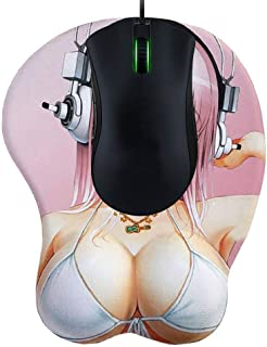 Cute Cartoon Girl 3D Boob Silicone Mouse Pad with Wrist Rest Gel Anime Support Mouse Pad Mat Gaming Mousepad