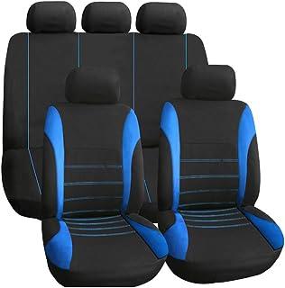 KKmoon Capa de assento de carro 9 peças, ajuste universal, conjunto completo de acessórios interiores automotivos, capa de...
