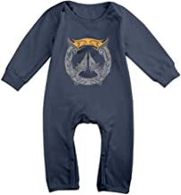 MoMo Over Creative Watch Logo Toddler/Infant Romper Playsuit Outfits Navy